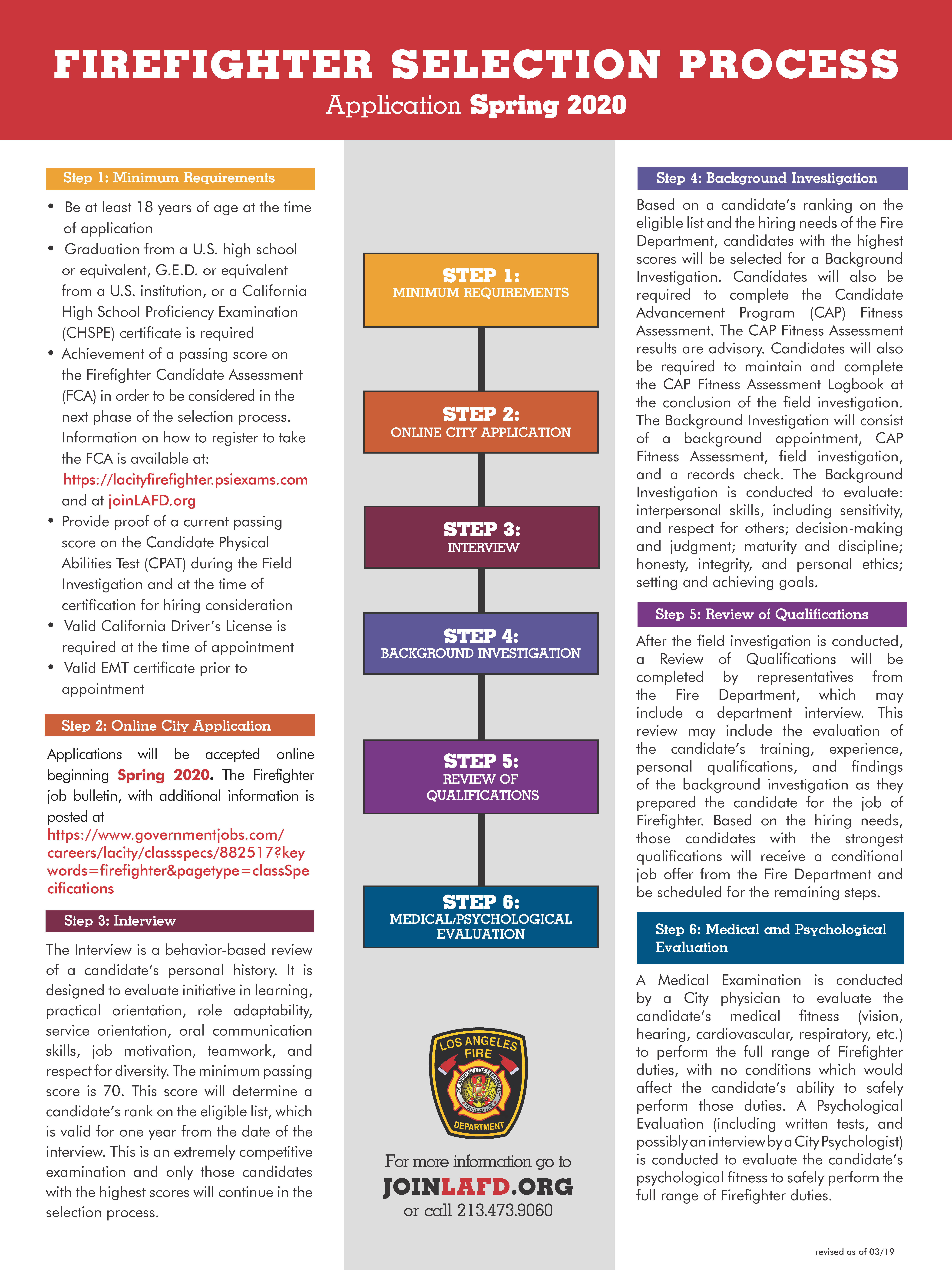 Hiring Process @ JoinLAFD: Los Angeles Fire Department